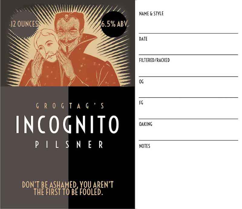 Picture of Incognito Keg Label