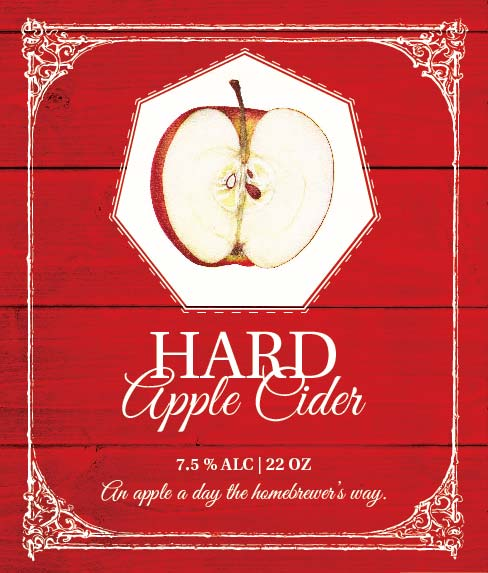 Picture of Hard Apple Cider Wine Label