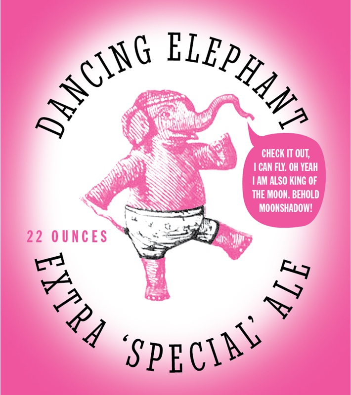 Picture of Dancing Elephant Metal Sign