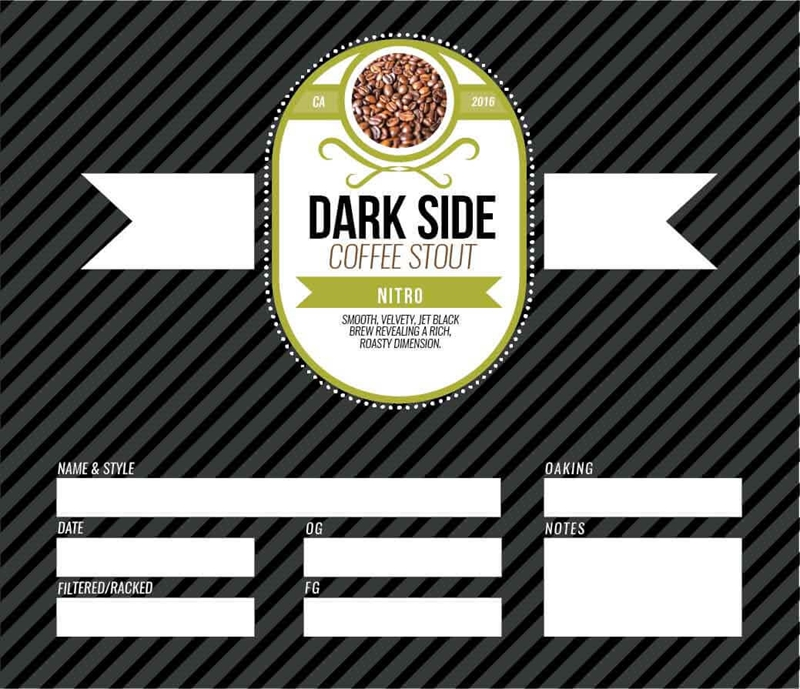 Picture of Dark Side Keg Label