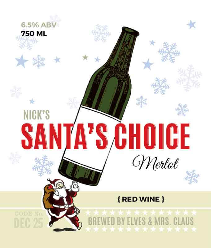 Picture of Santa's Choice Wine Label