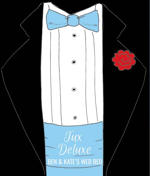 Picture of Tux Deluxe Wine Label