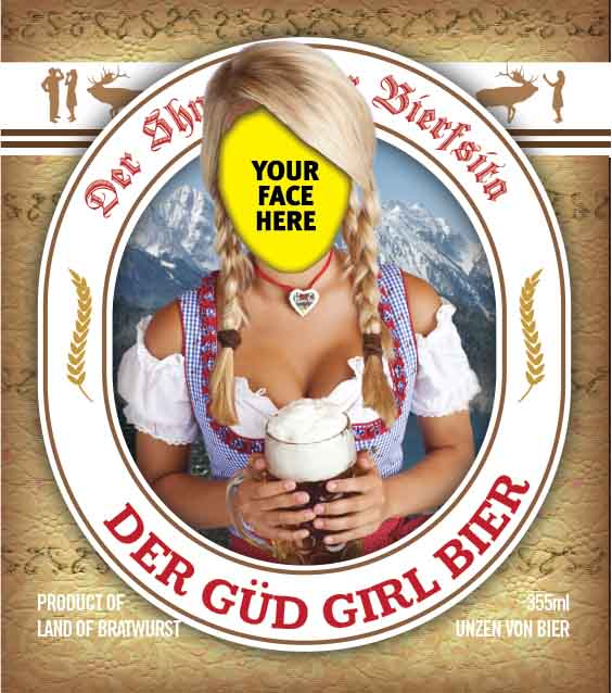 Picture of Der Güd Girl Metal Sign