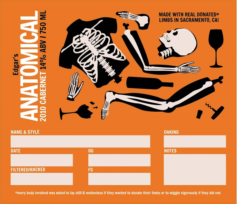 Picture of Anatomical Keg Label