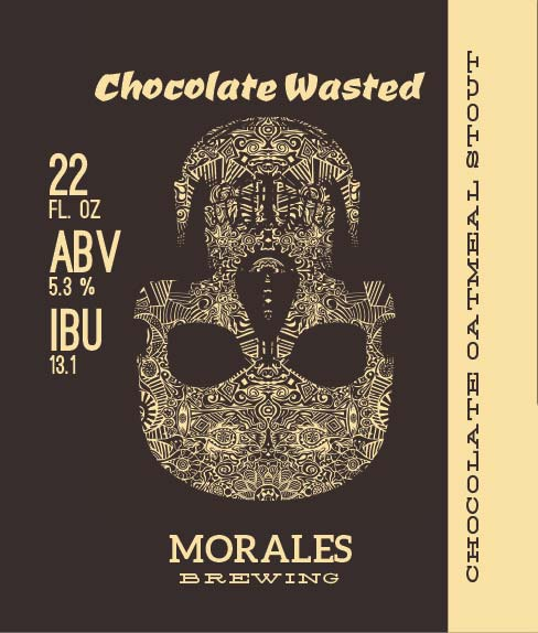 Picture of Chocolate Wasted Wine Label