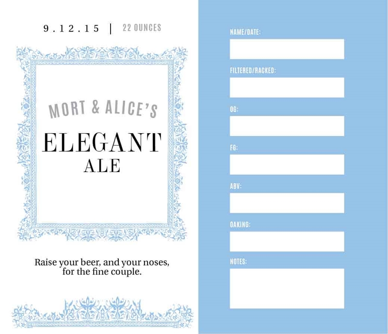 Picture of Elegant Keg Label