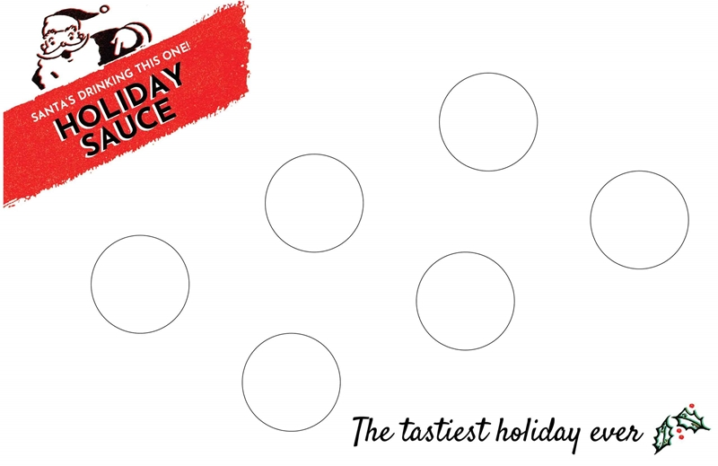 Picture of Holiday Sauce Tasting Mat