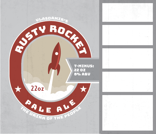 Picture of Rusty Rocket Keg Label