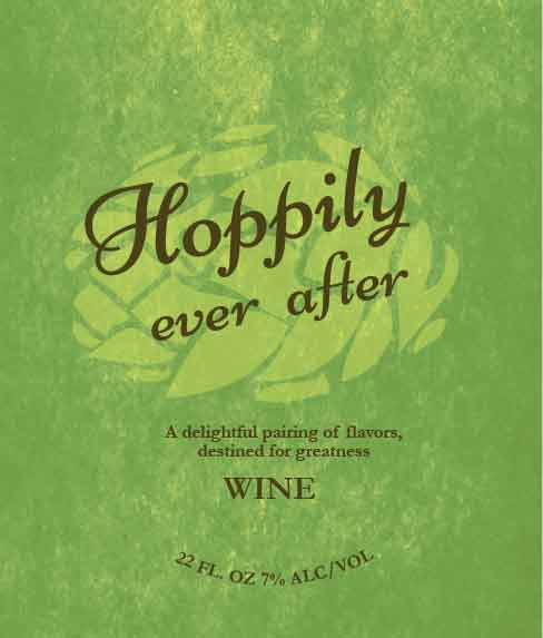 Picture of Hoppily Ever After Wine Label