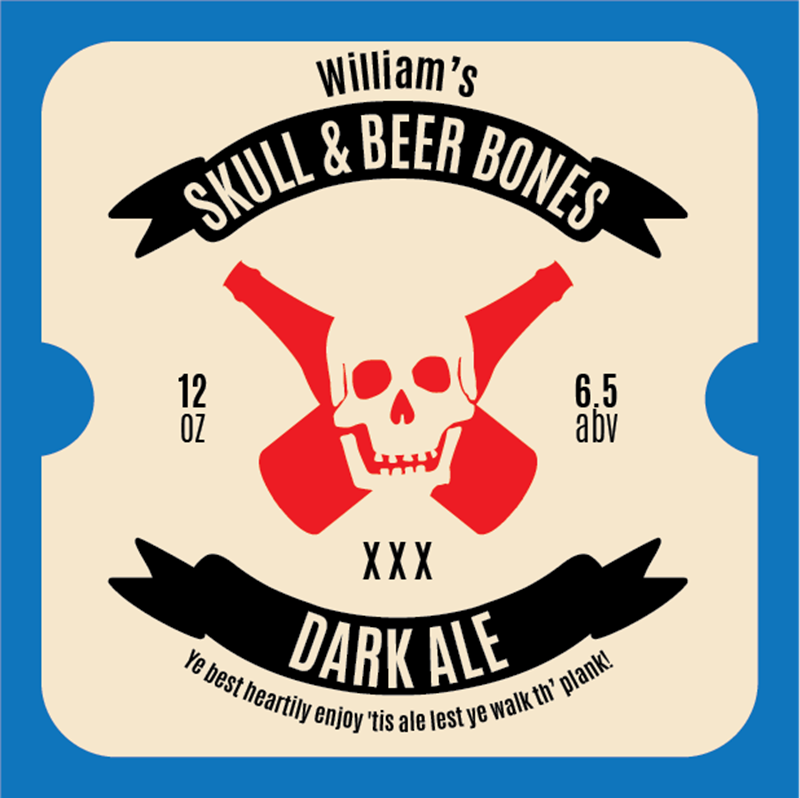 Picture of Skull & Beer Bones Coaster, Single Sided
