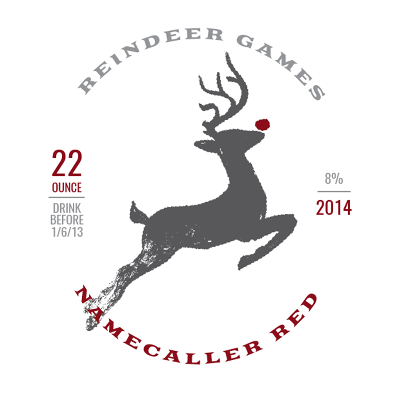 Picture of Reindeer Games Coaster, Single Sided