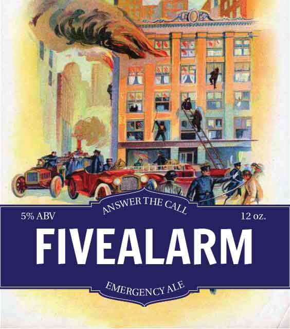Picture of Five Alarm Metal Sign