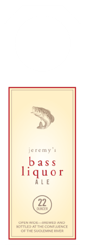 Picture of Bass Liquor Hangtag